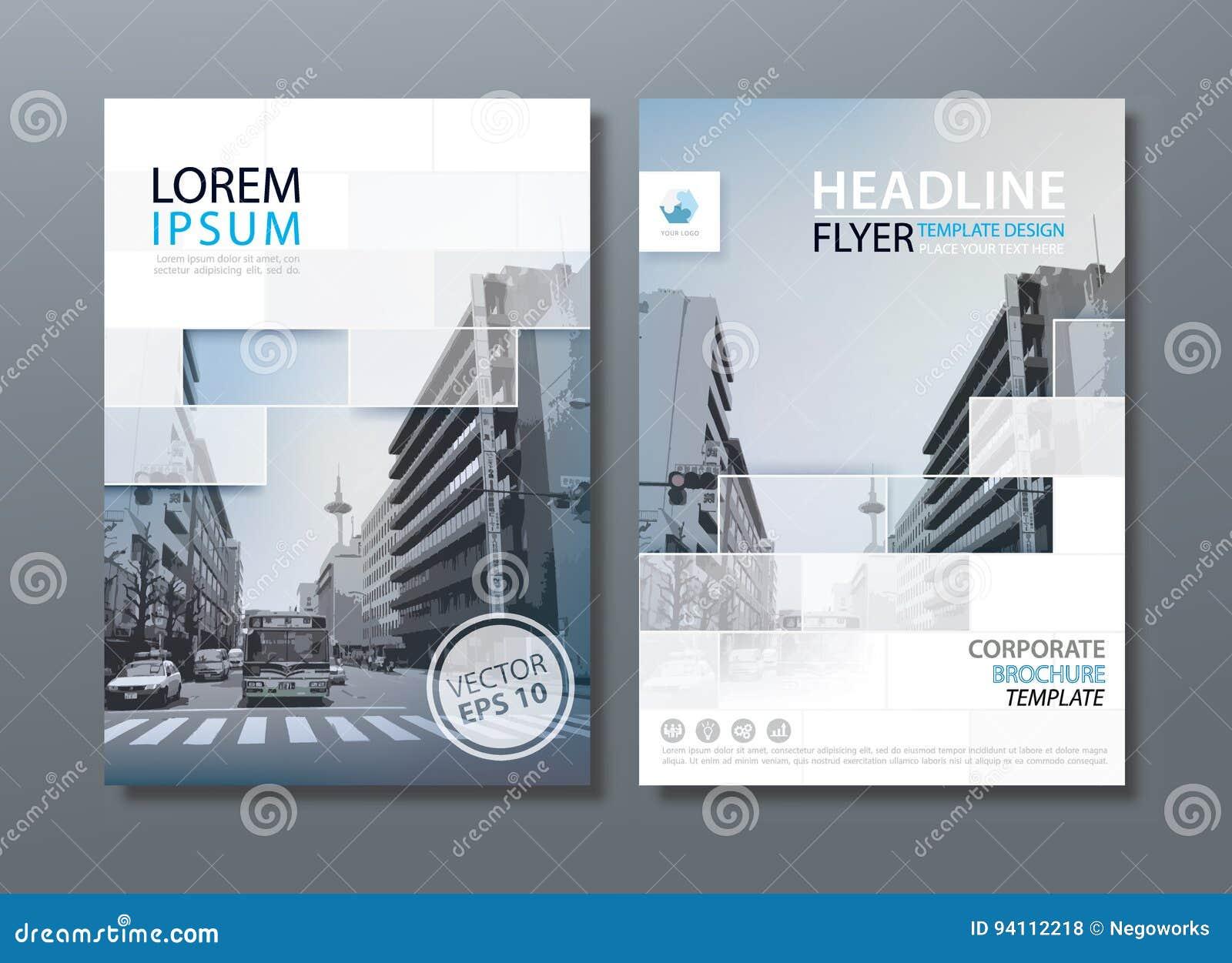 Flyer Design Template Vector Leaflet Book Cover Templates Stock
