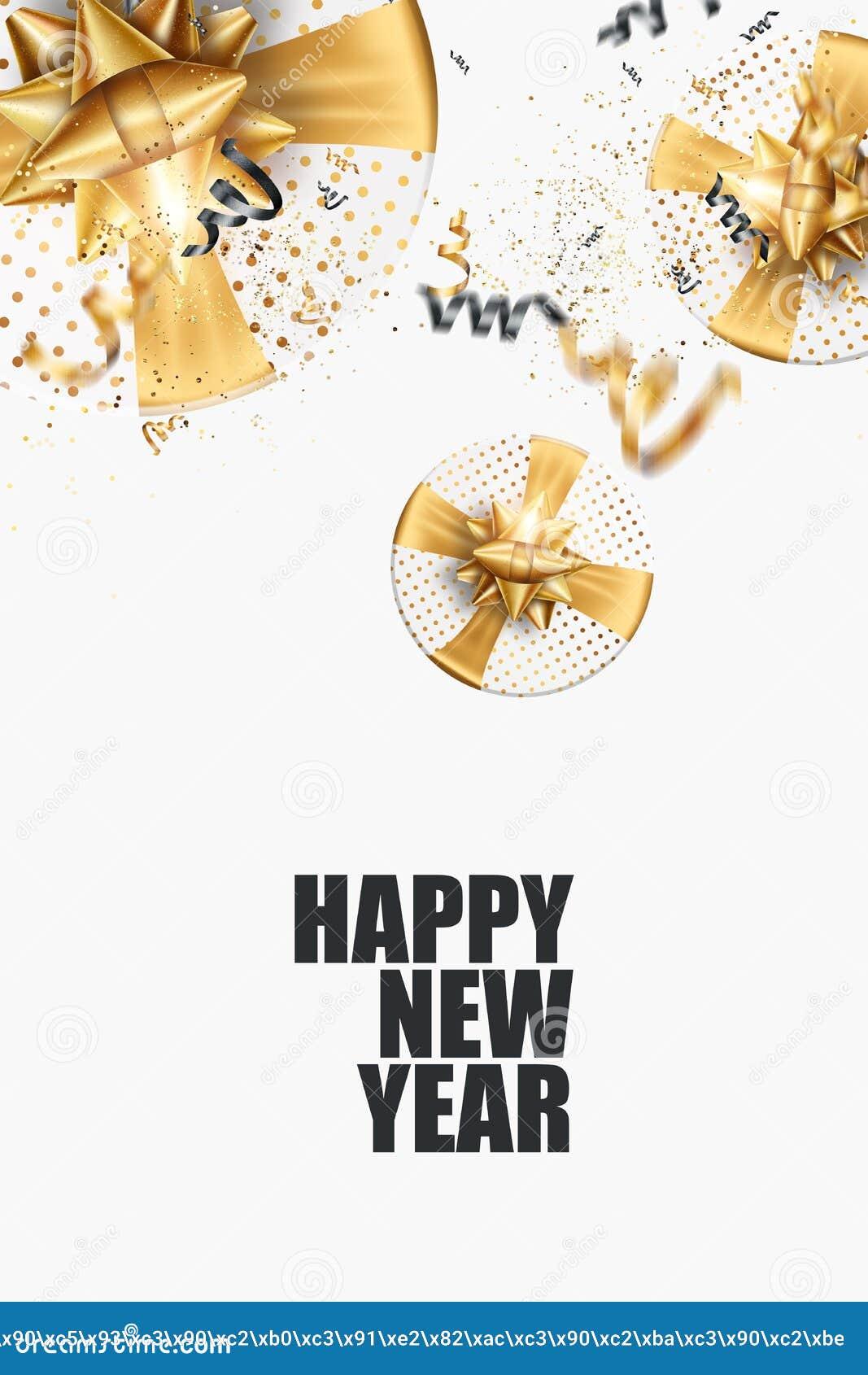 flyer a4 happy new year 2020 on a white background black gold design brochure design template card banner 3d illustration 3d stock illustration illustration of cover golden 166298032 dreamstime com