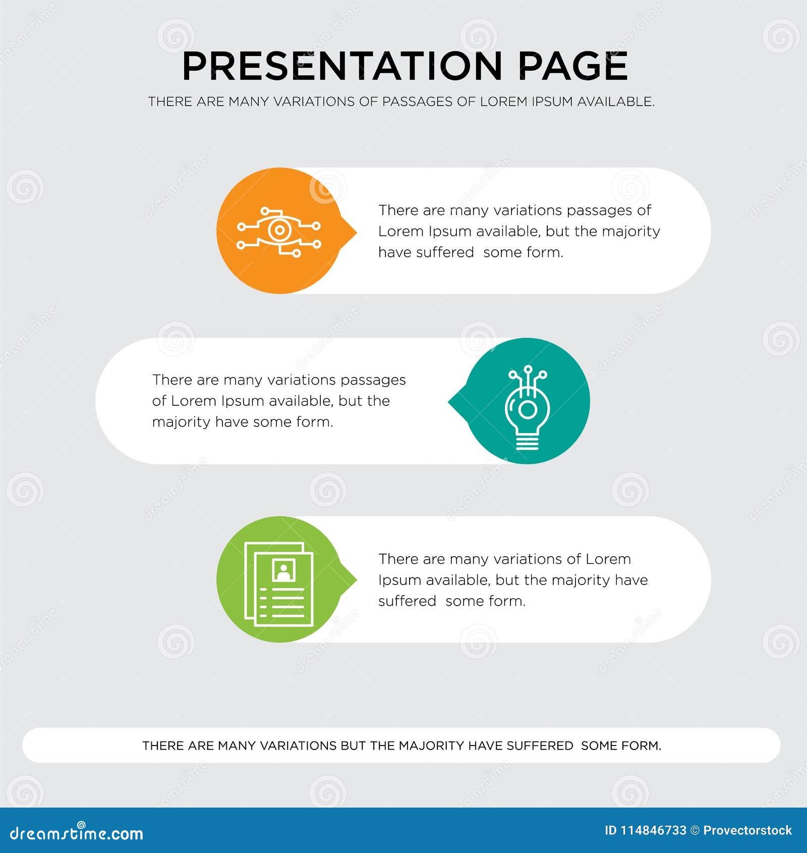 flyer idea analysis presentation stock illustration illustration