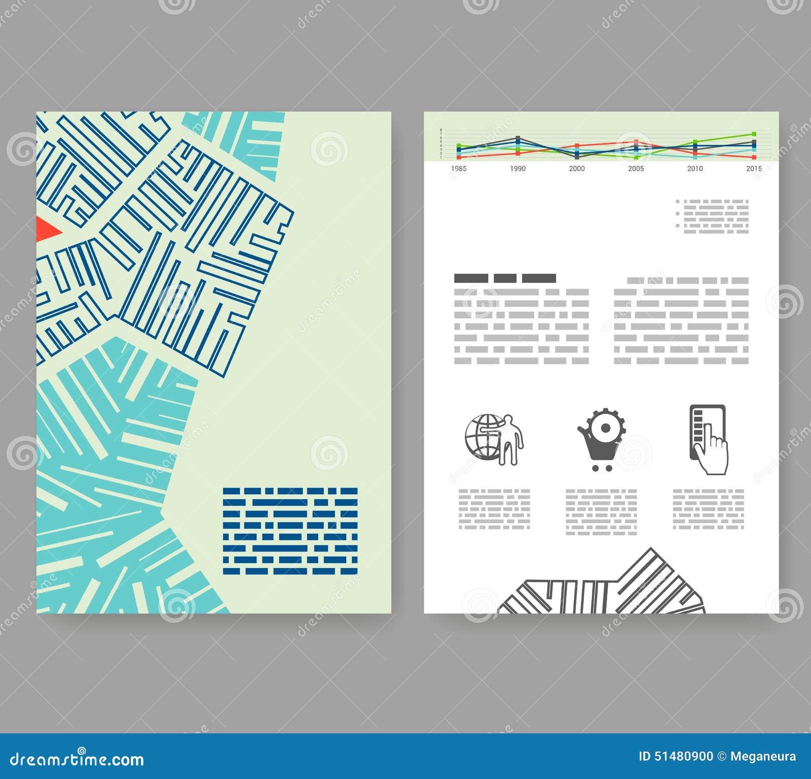 Flyer leaflet booklet layout editable design template for Layout design online