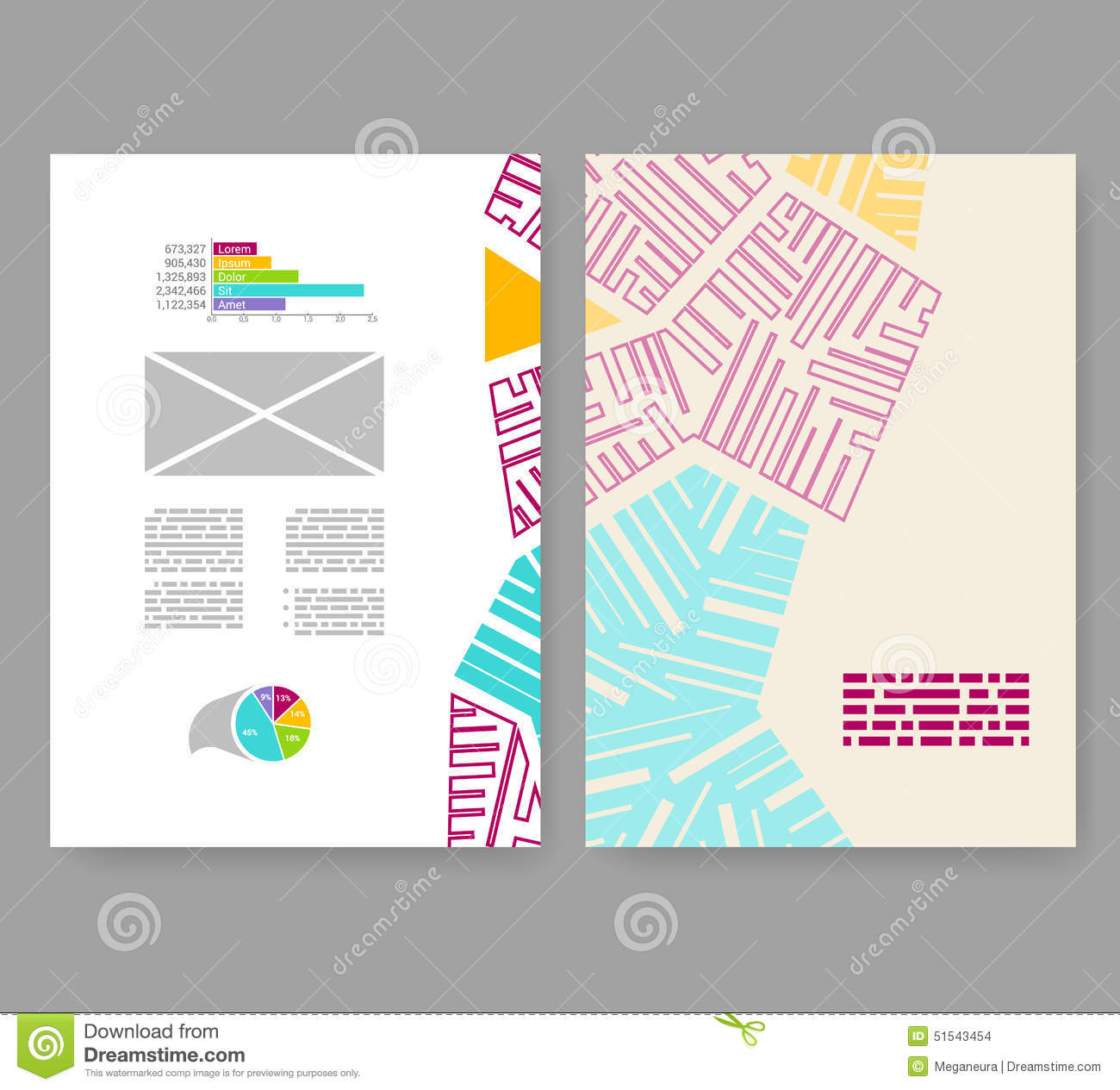 Flyer leaflet booklet layout editable design template for Booklet brochure template