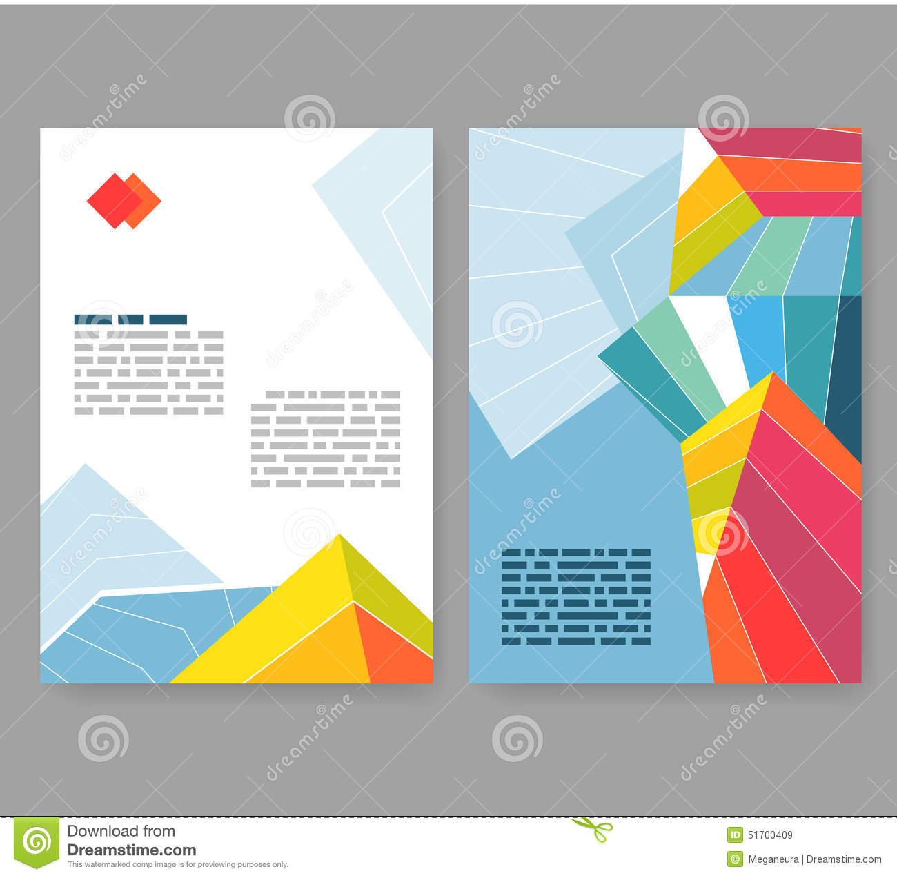 Flyer, Leaflet, Booklet Layout. Editable Design Template A4 Stock ...