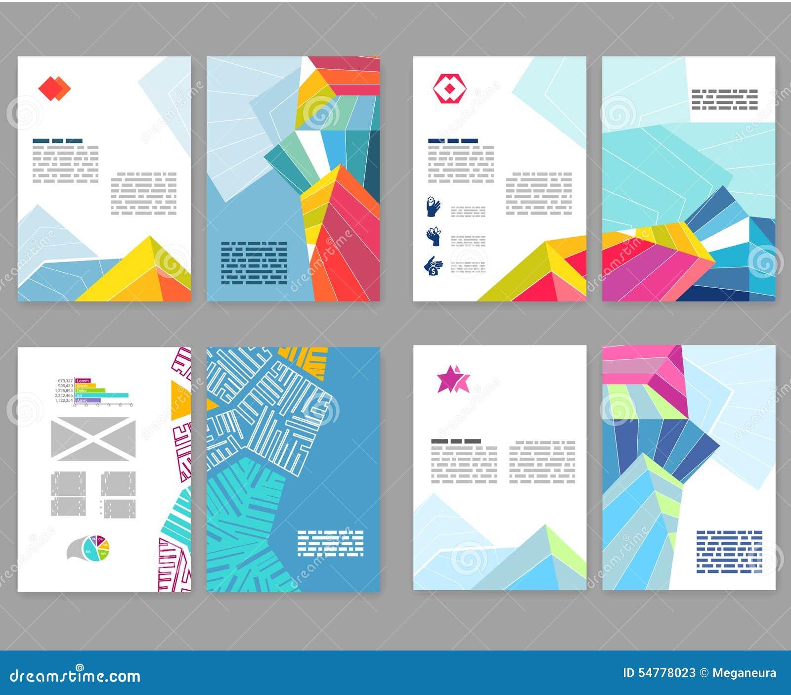 Flyer Leaflet Booklet Layout Set Editable Design Template A4 2