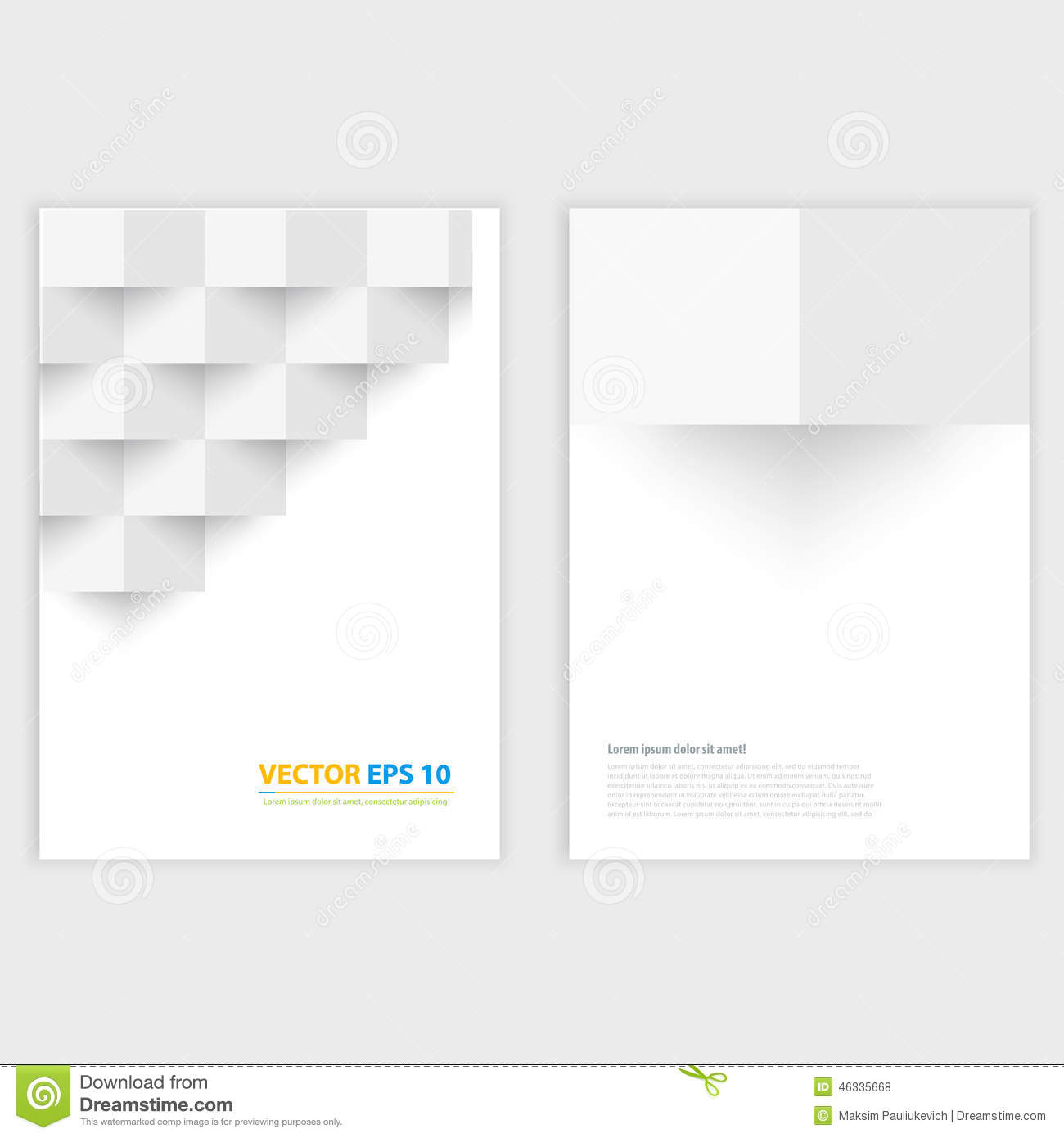 flyer template back and front design medical stock vector