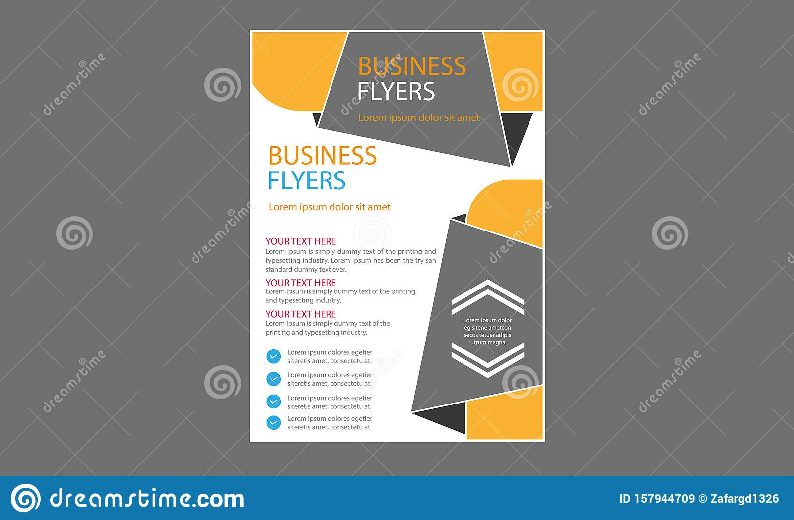 Vector Creative Flyer Template Fresh Concept Business Brochure Stock Vector Illustration Of Business Decoration 157944709