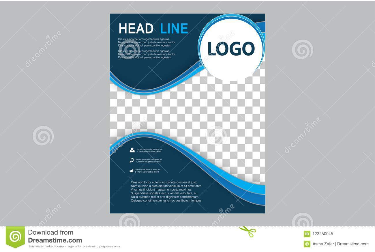 Brochure Flyer Template Magazine Cover Booklet Layout Poster