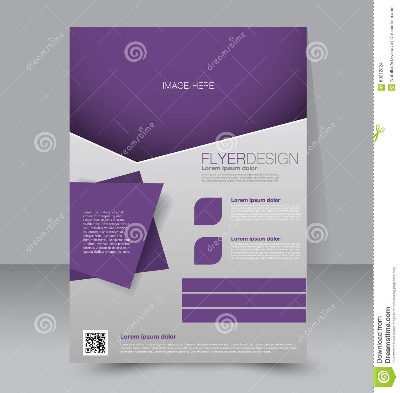 Flyer Template Business Brochure Editable A4 Poster For Design Education Presentation Website Magazine Cover Purple Color