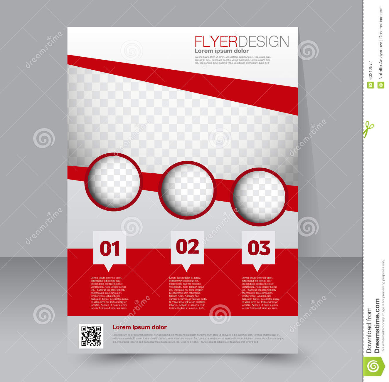 Flyer template brochure design a4 business cover stock for Free flyer brochure templates