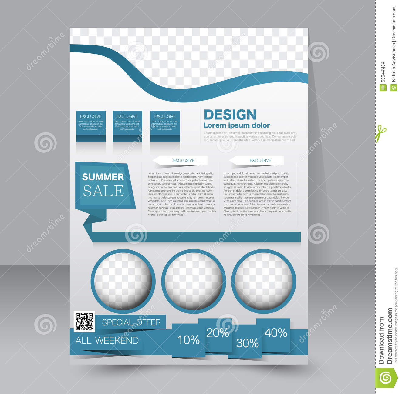 Poster design website - Flyer Template Business Brochure Editable A4 Poster Stock Vector