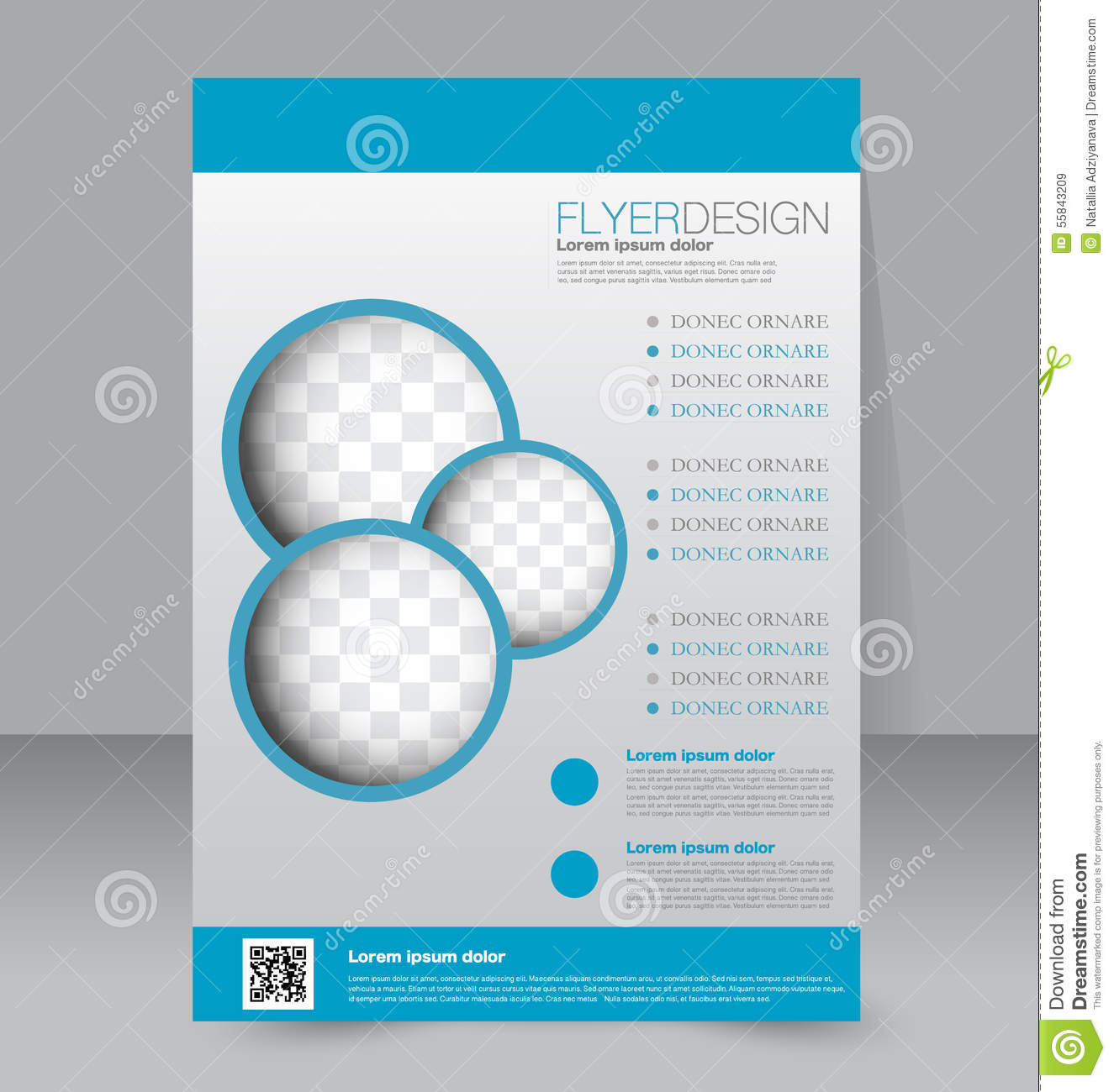 Flyer Template. Business Brochure. Editable A4 Poster Stock Vector ...