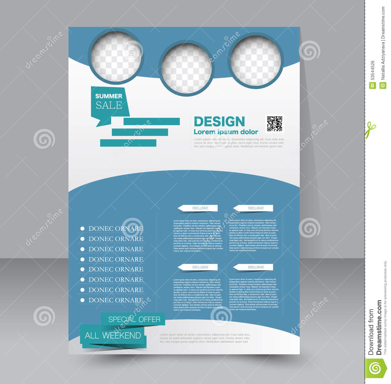 Flyer Template Business Brochure Editable A Poster Stock Vector - Editable brochure templates