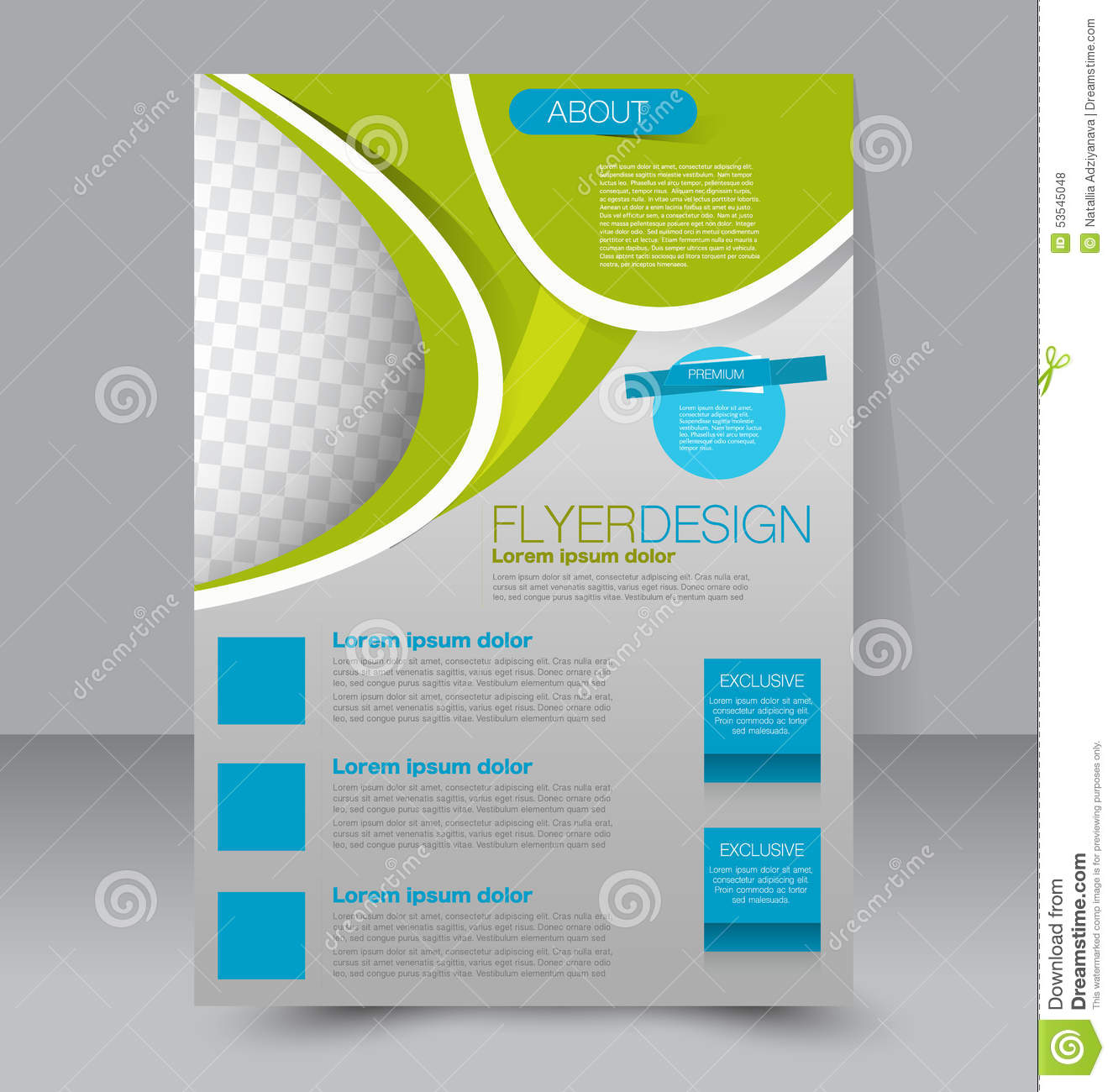 flyer template business brochure editable a4 poster stock vector flyer template business brochure editable a4 poster royalty stock photos