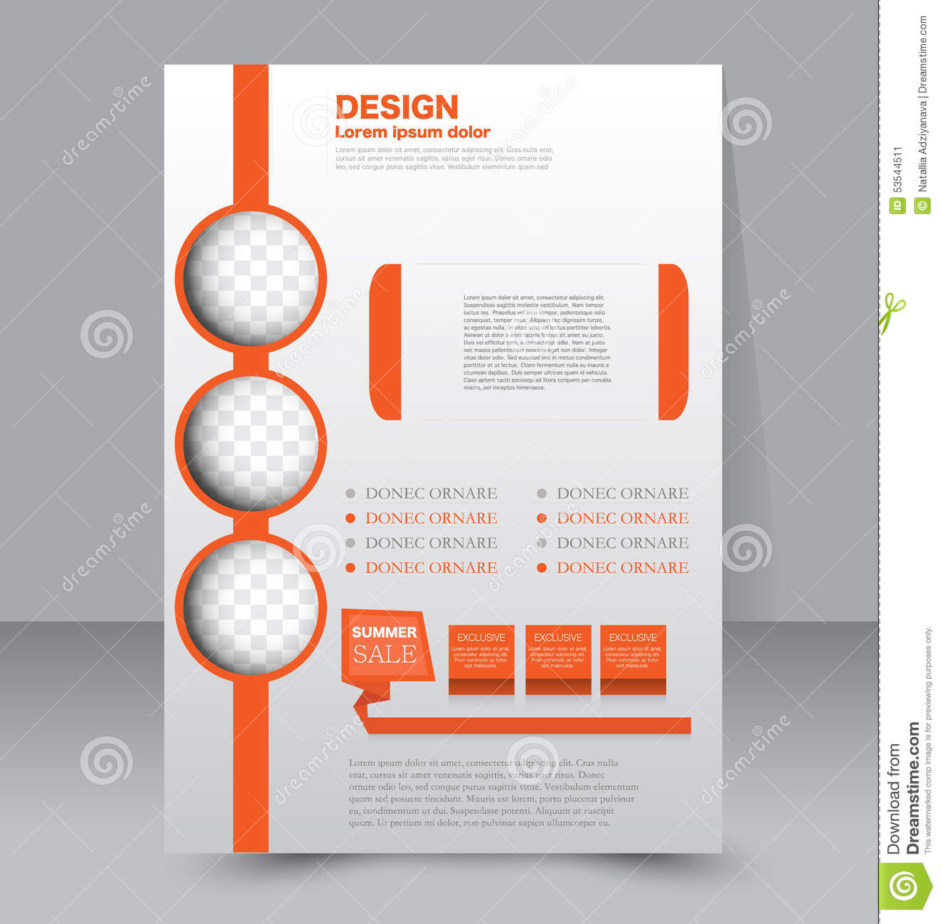 flyer template. business brochure. editable a4 poster stock vector
