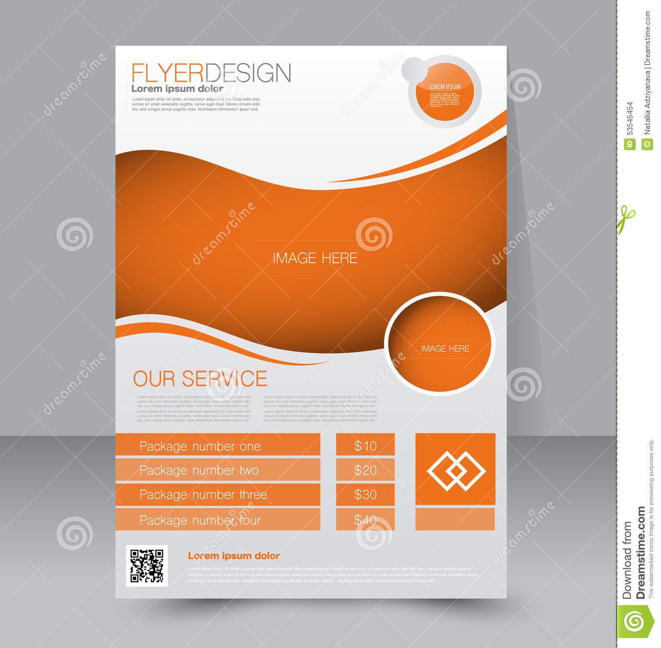 Free Blank Business Flyer Templates: Flyer Template. Business Brochure. Editable A4 Poster