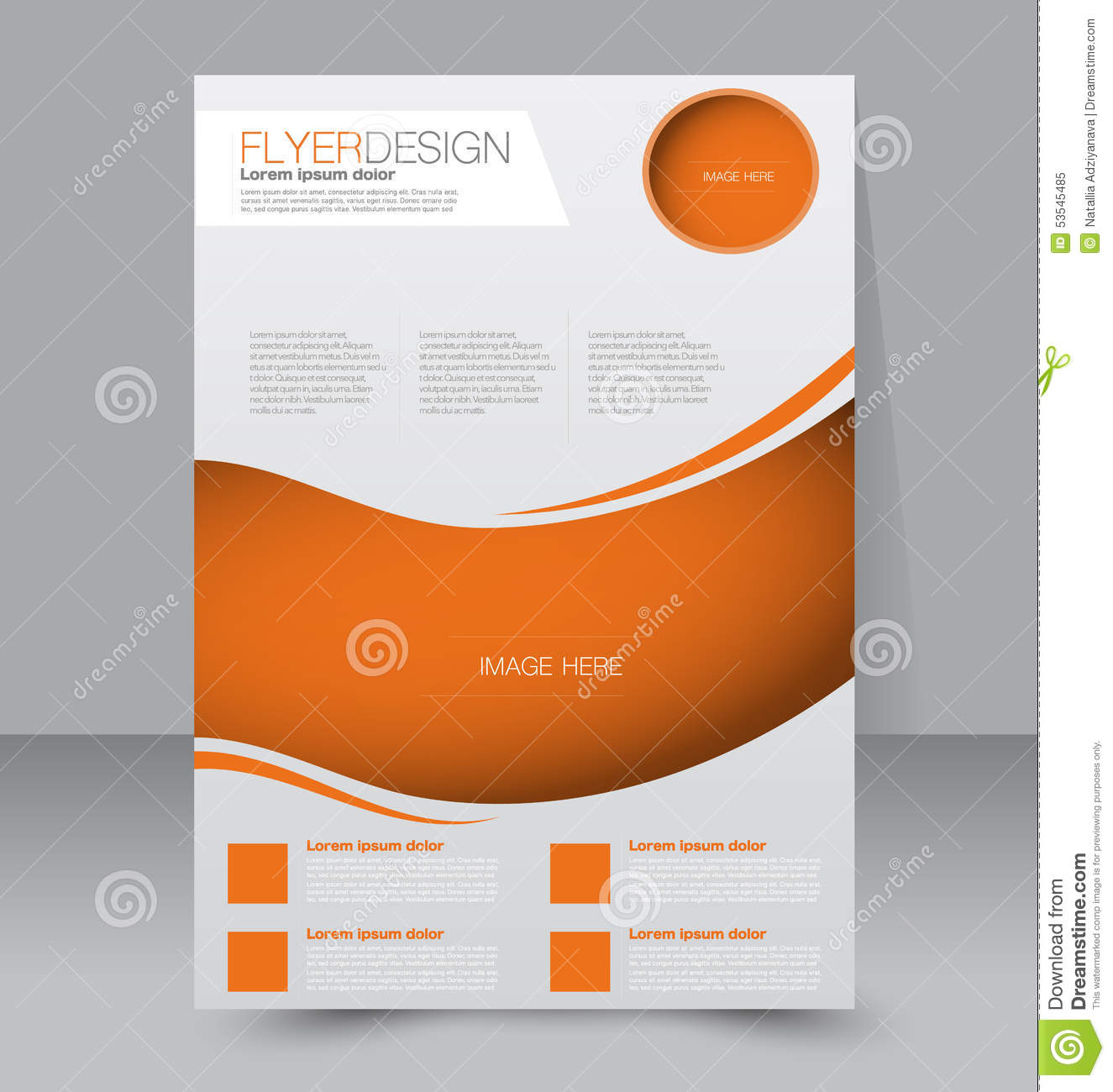 Flyer template business brochure editable a4 poster for Template brochure