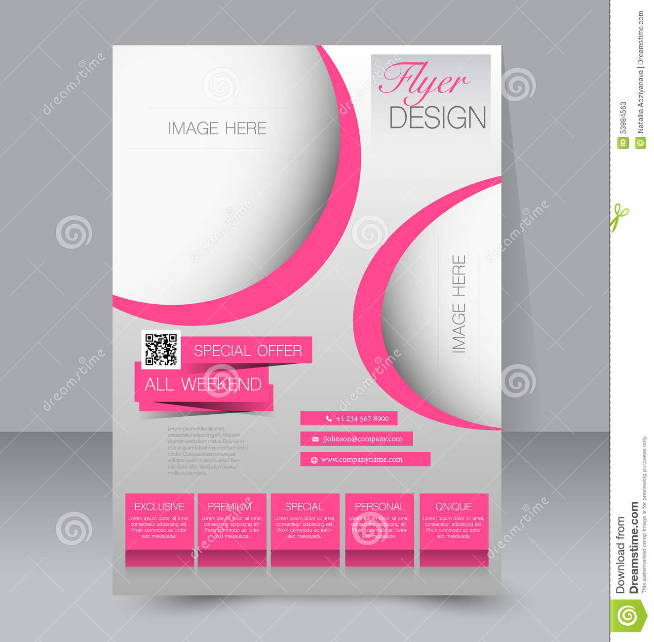 flyer template business brochure editable a4 poster stock vector illustration of magazine. Black Bedroom Furniture Sets. Home Design Ideas