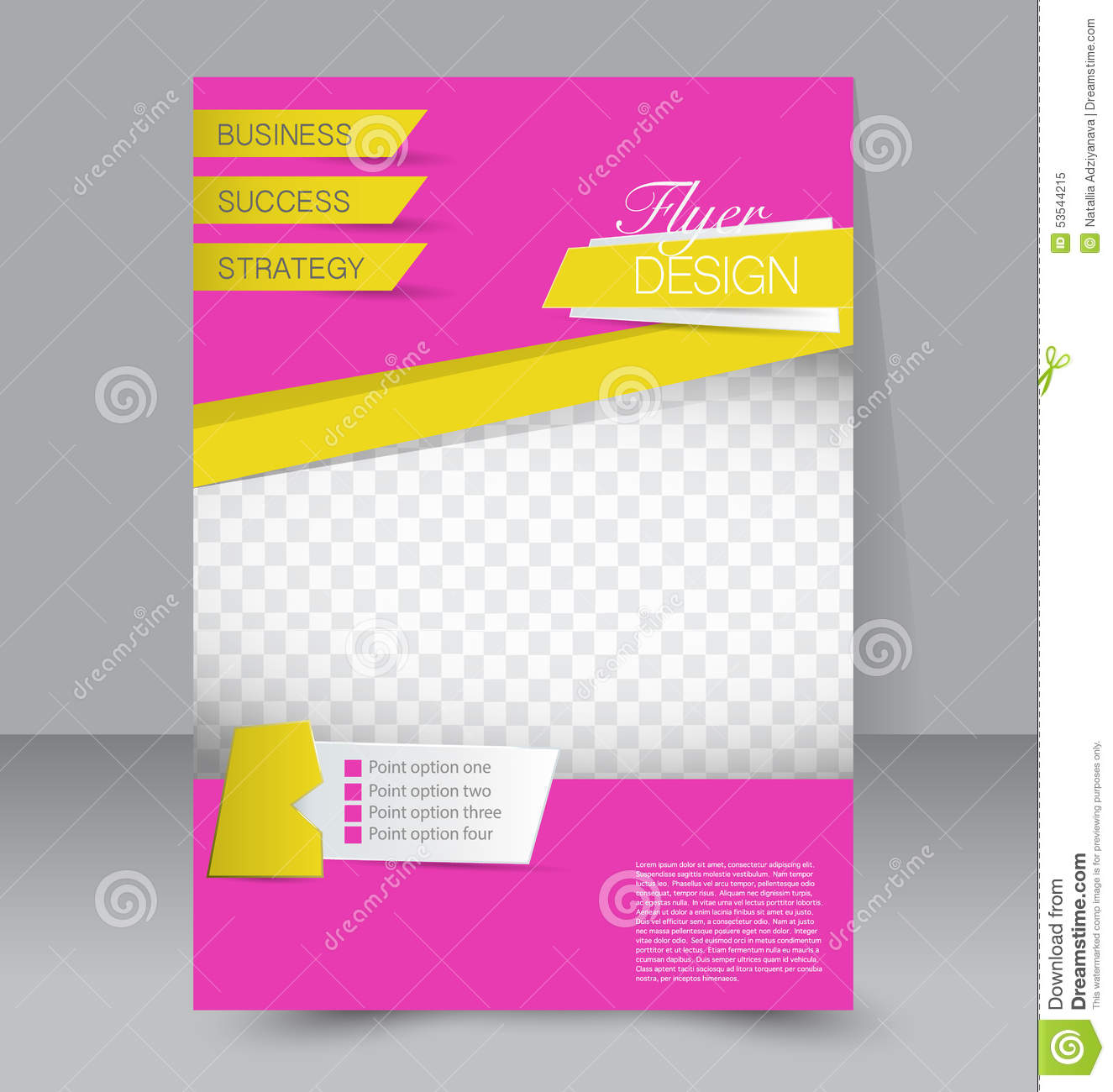 Poster design business - Business Brochure Editable A4 Poster Royalty Free Stock Photo