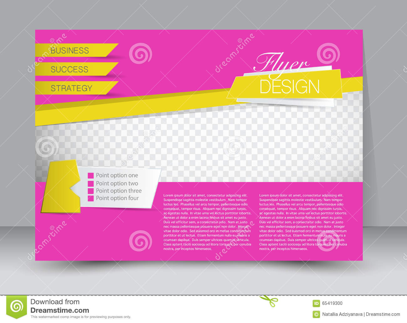 Poster design template - Flyer Template Business Brochure Editable A4 Poster For Design Stock Vector