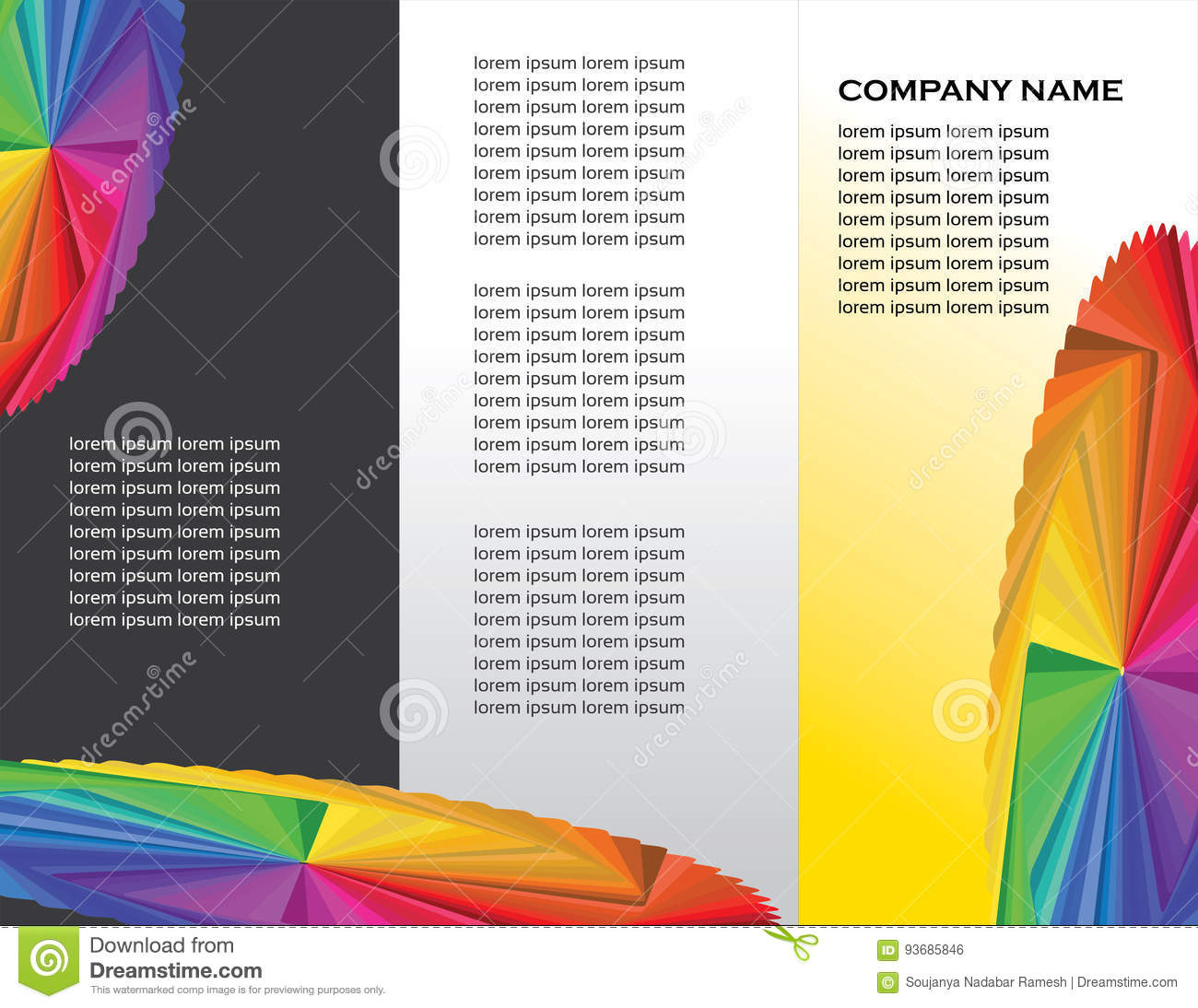 flyer template colorful design stock vector