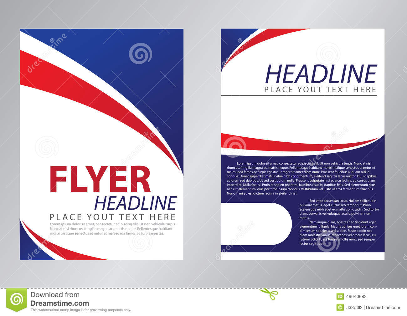 Royalty Free Illustration. Download Flyer Template ...