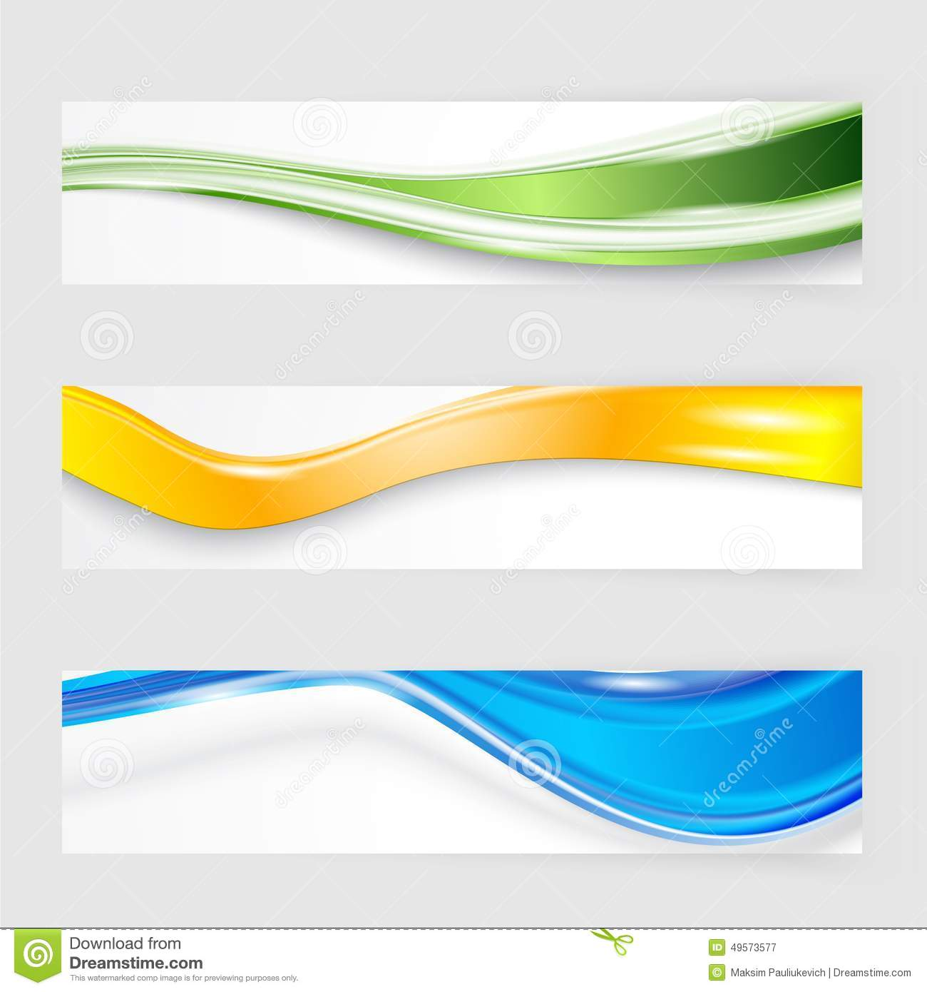 flyer template header design stock vector