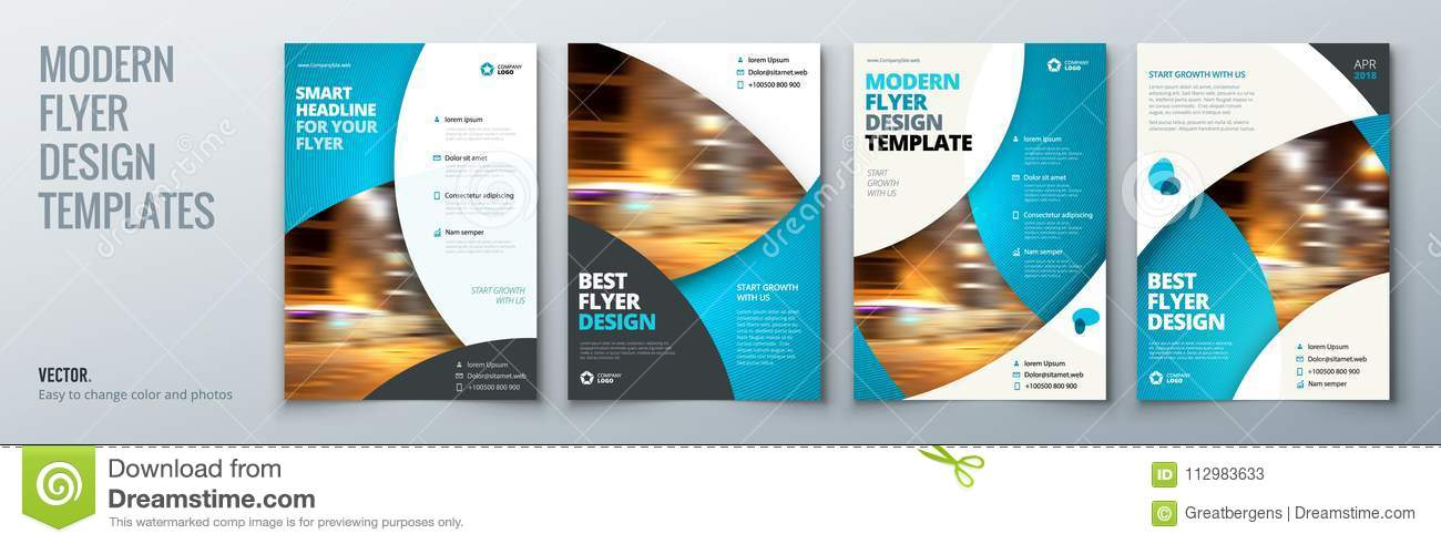download flyer template layout design business flyer brochure magazine or flier mockup in