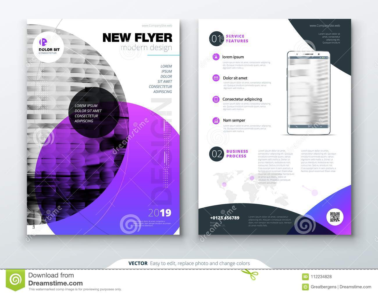 download flyer template layout design business flyer brochure magazine or flyer mockup in
