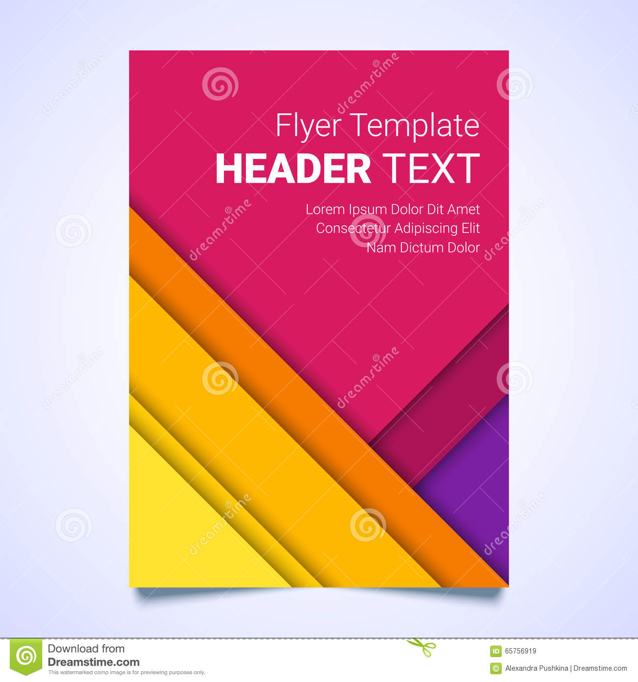Poster design business - Flyer Template In A Material Design Style Modern Poster Business Template Brochure Colorful Template
