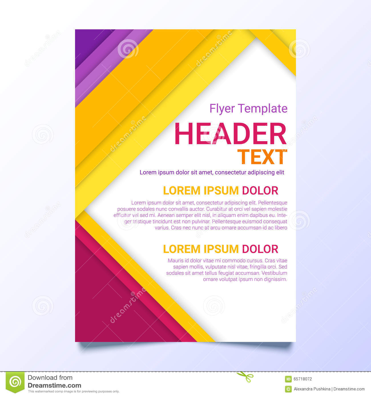 flyer template in a material design style. modern poster business