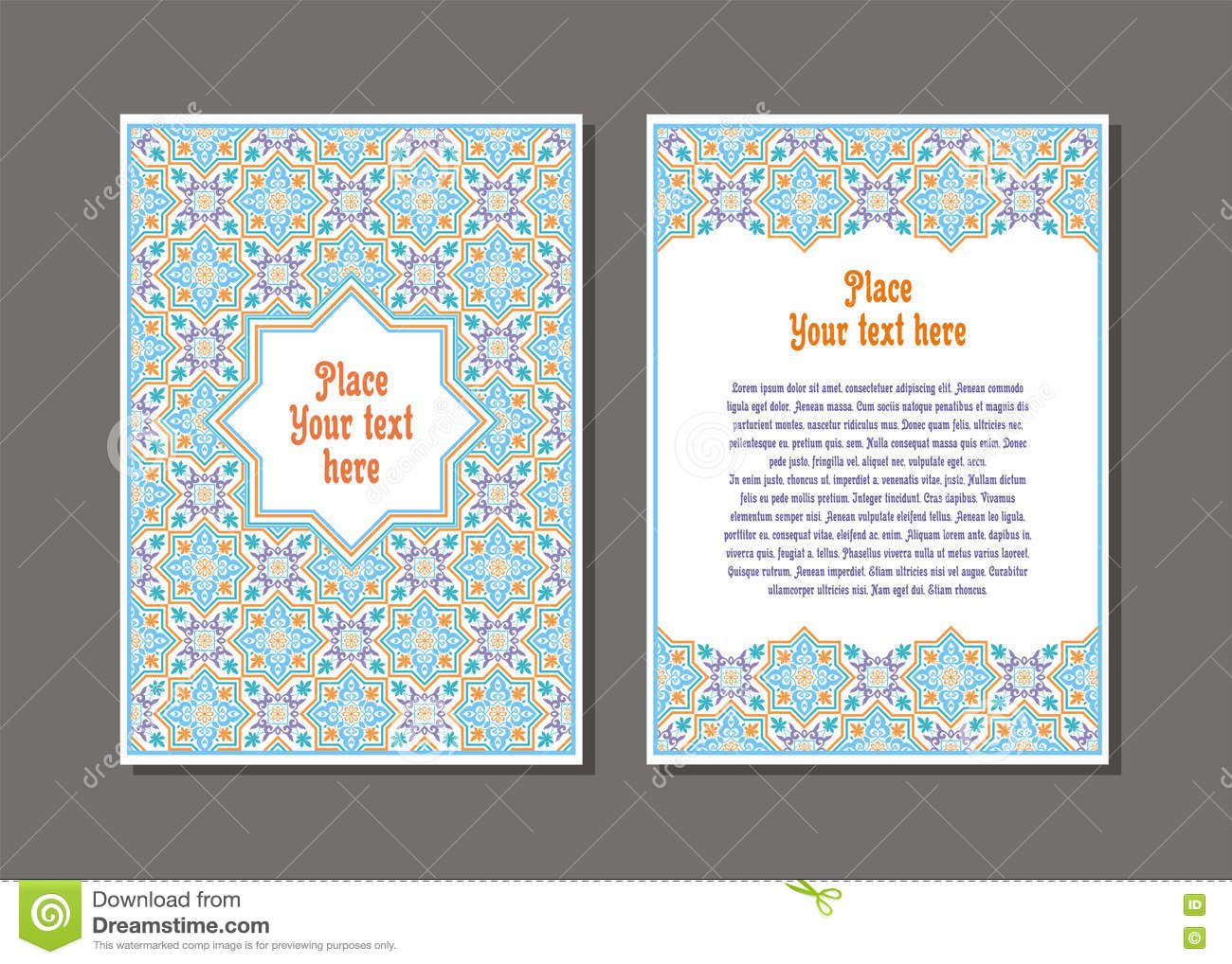 flyer template set stock vector image  flyer template set