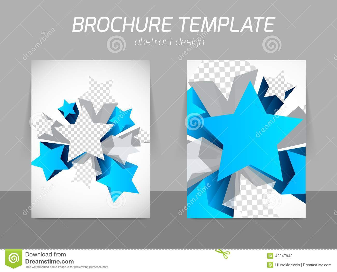 Flyer Template With Star Stock Vector Illustration Of Abstract