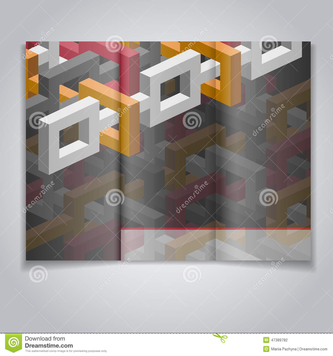 flyer template stock vector illustration of geometric 47389782