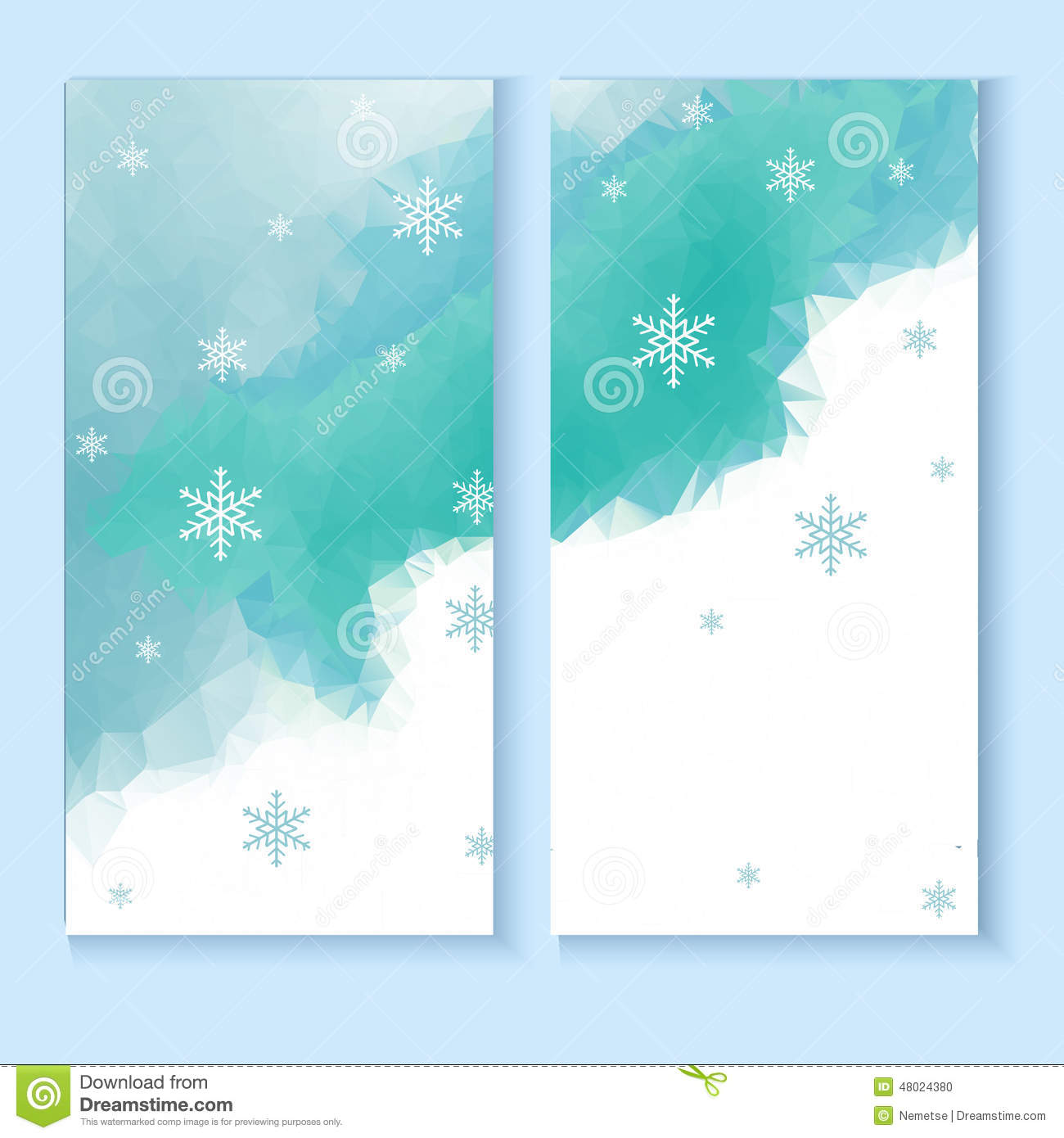 flyer template with a winter background stock vector illustration