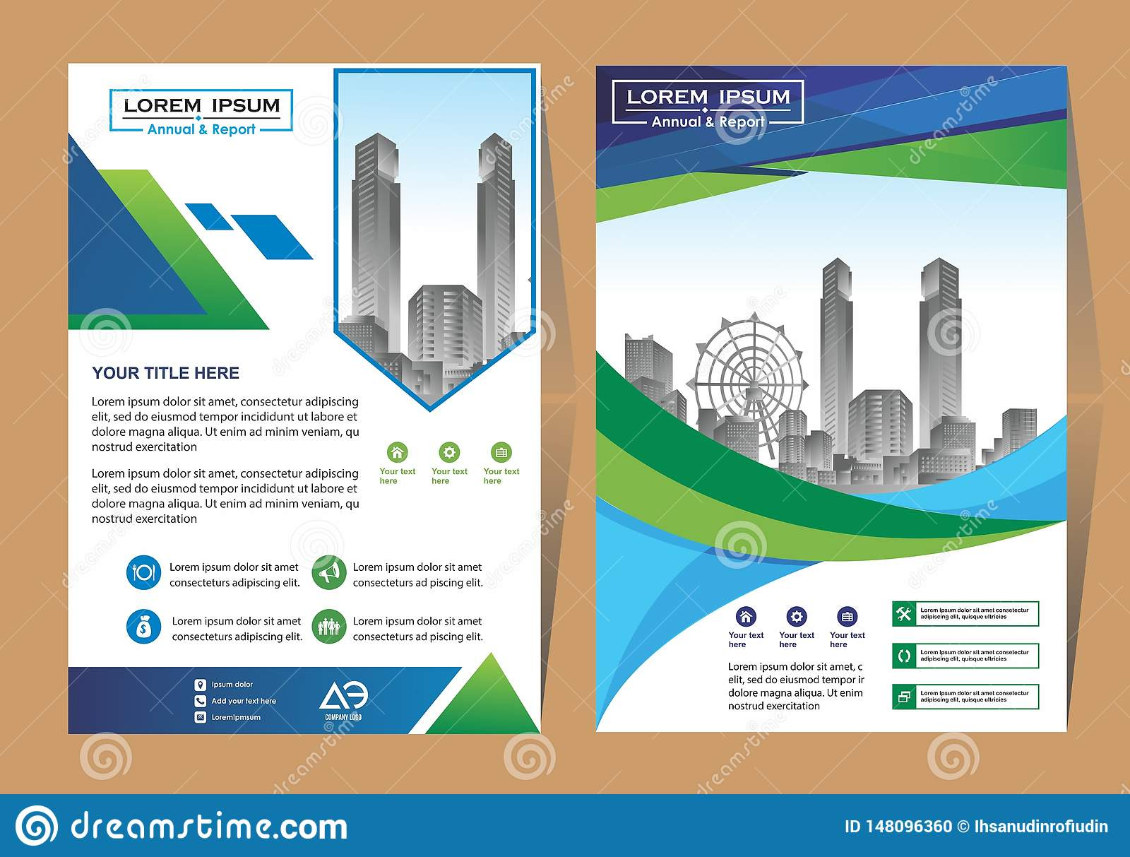 Vector Business brochure, flyers design template, company profile, magazine, poster, annual report, book & booklet cover, with gre