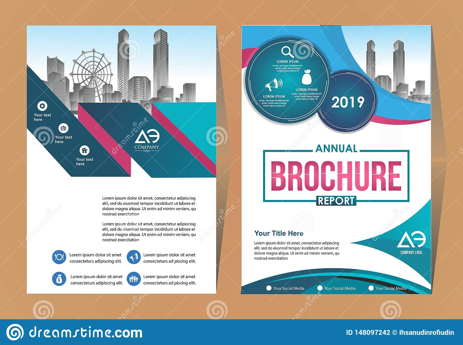 Vector Business Brochure  Flyers Design Template  Company Profile  Magazine  Poster  Annual