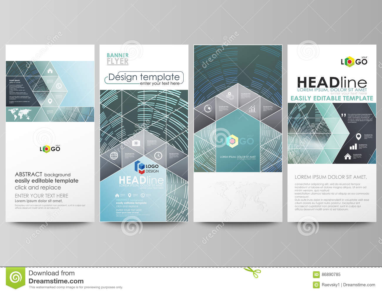 Flyers set modern banners business templates cover design download flyers set modern banners business templates cover design template easy editable fbccfo