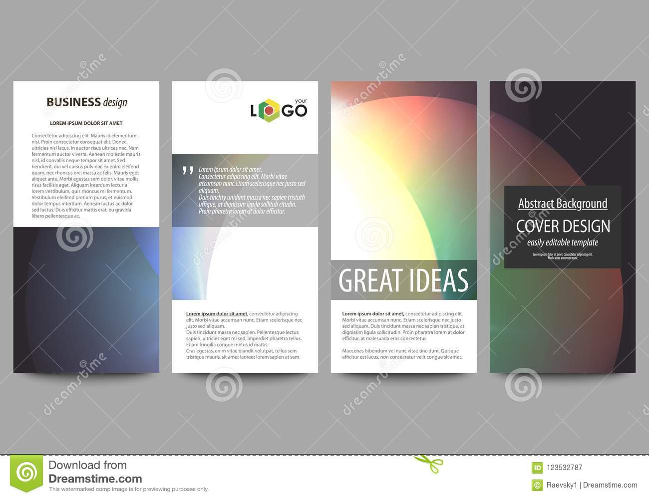flyers set modern banners business templates cover template easy