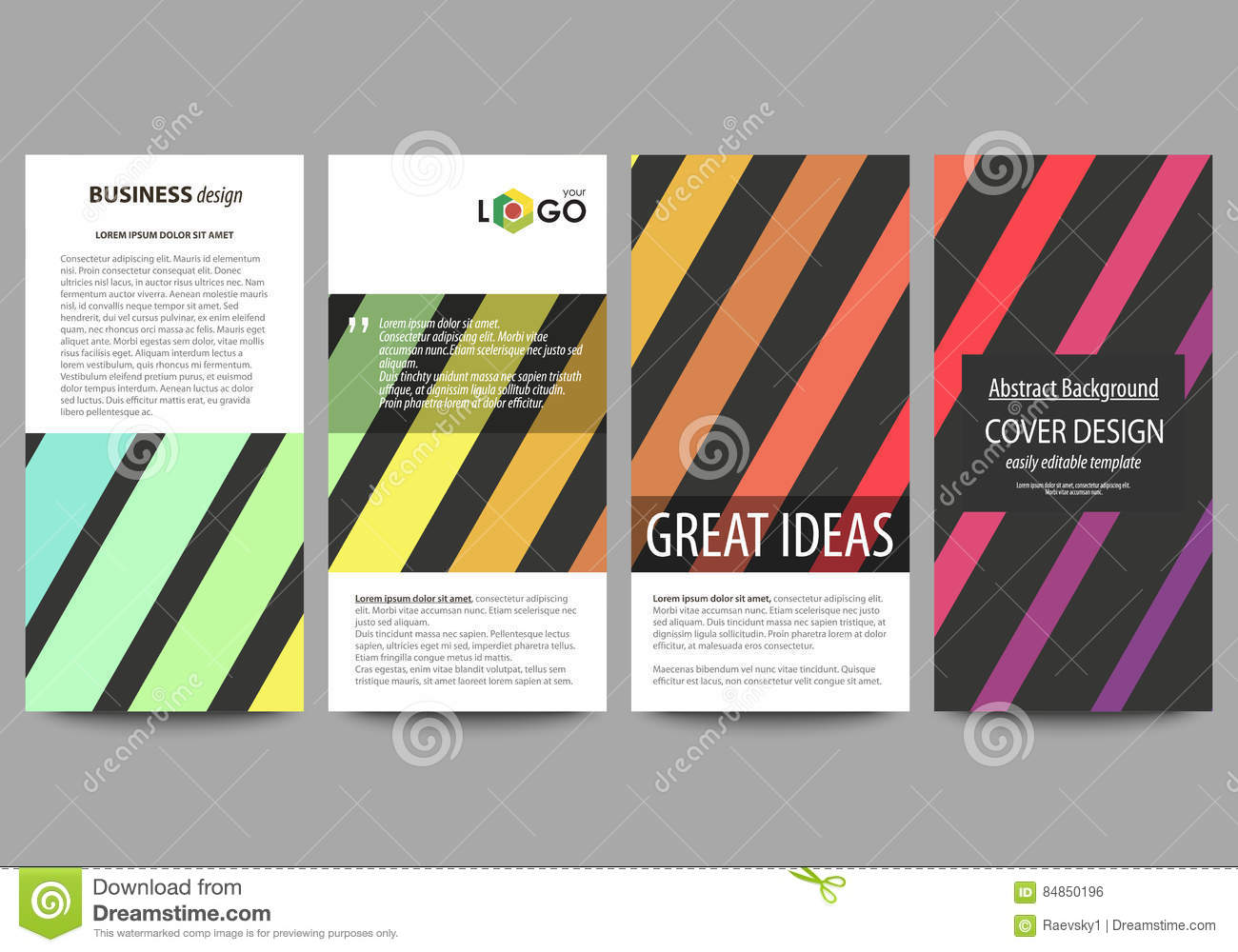flyers set modern banners business templates cover template business templates cover template vector layouts bright