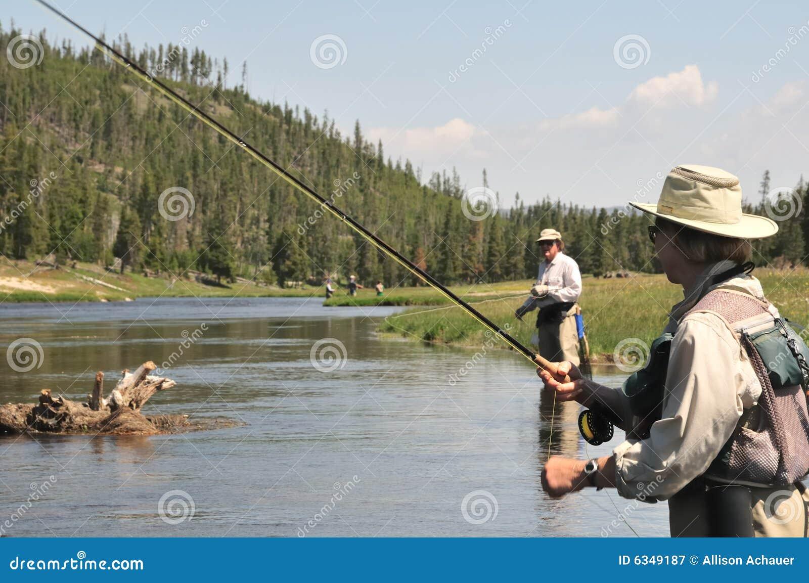 Flyfishing pensionär för par