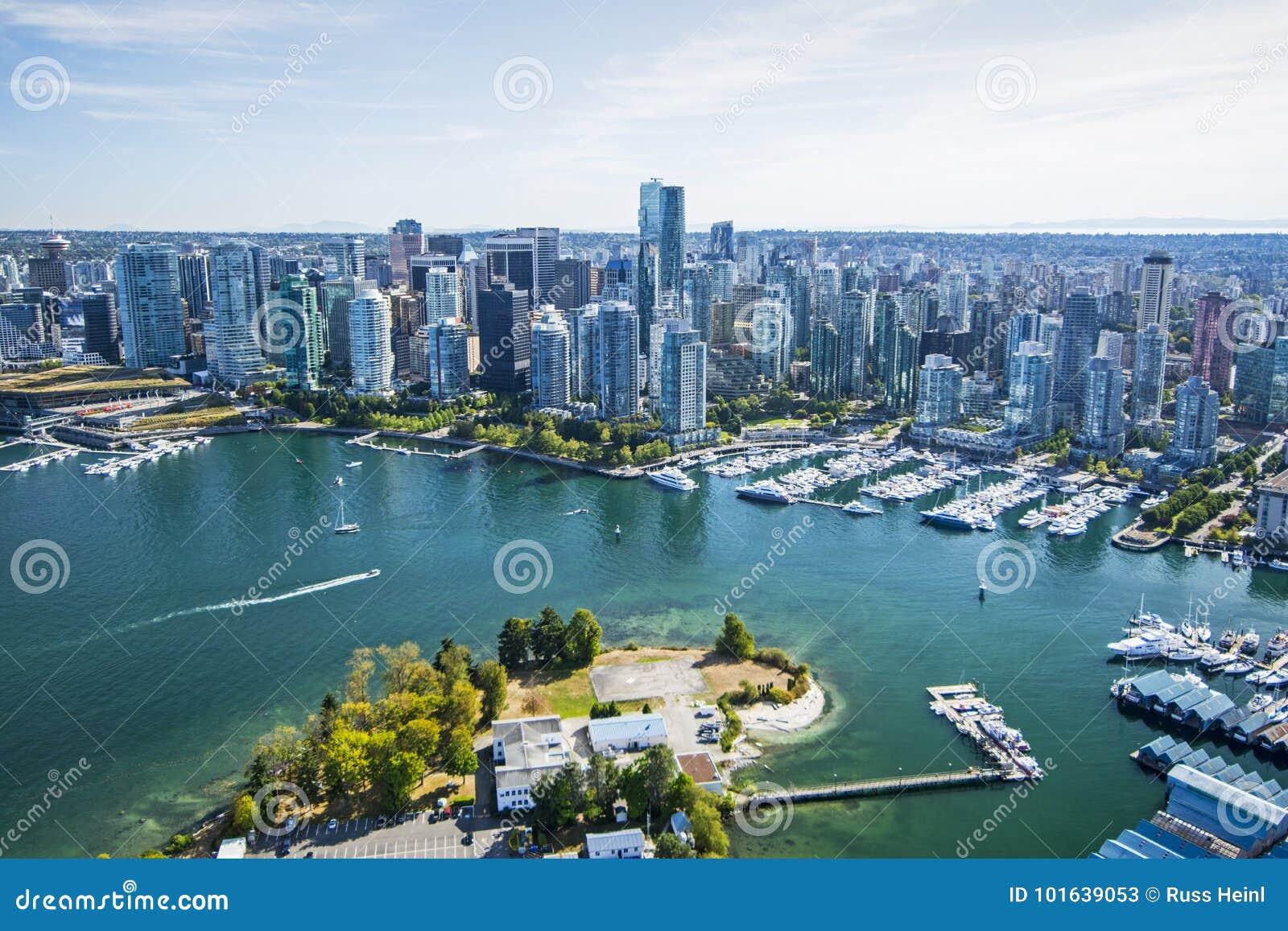 Flyg- bild av Vancouver, F. KR.