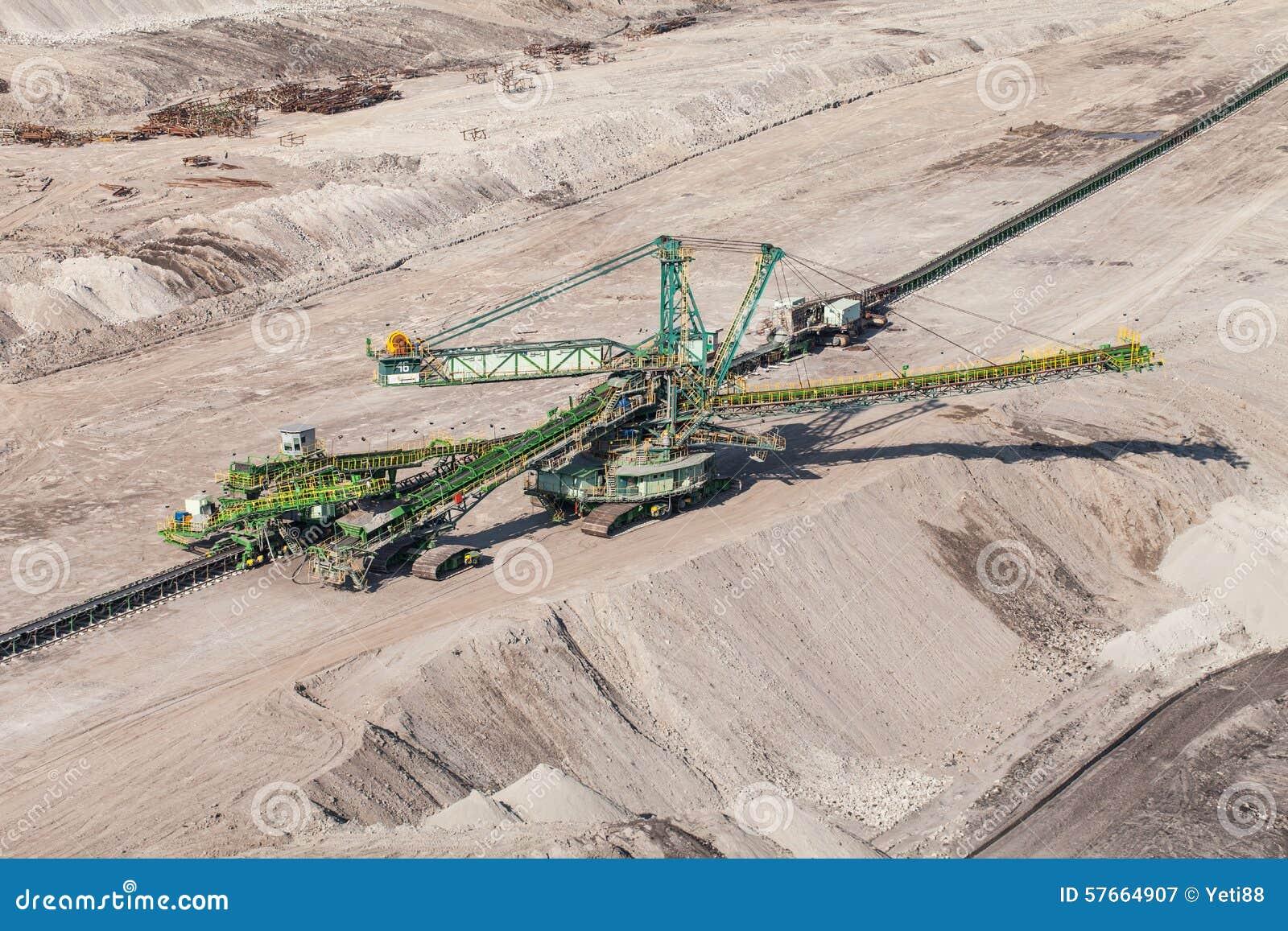 Flyg- sikt av kolgruvan