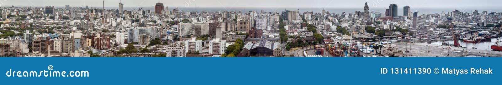 Flyg- sikt av Montevideo