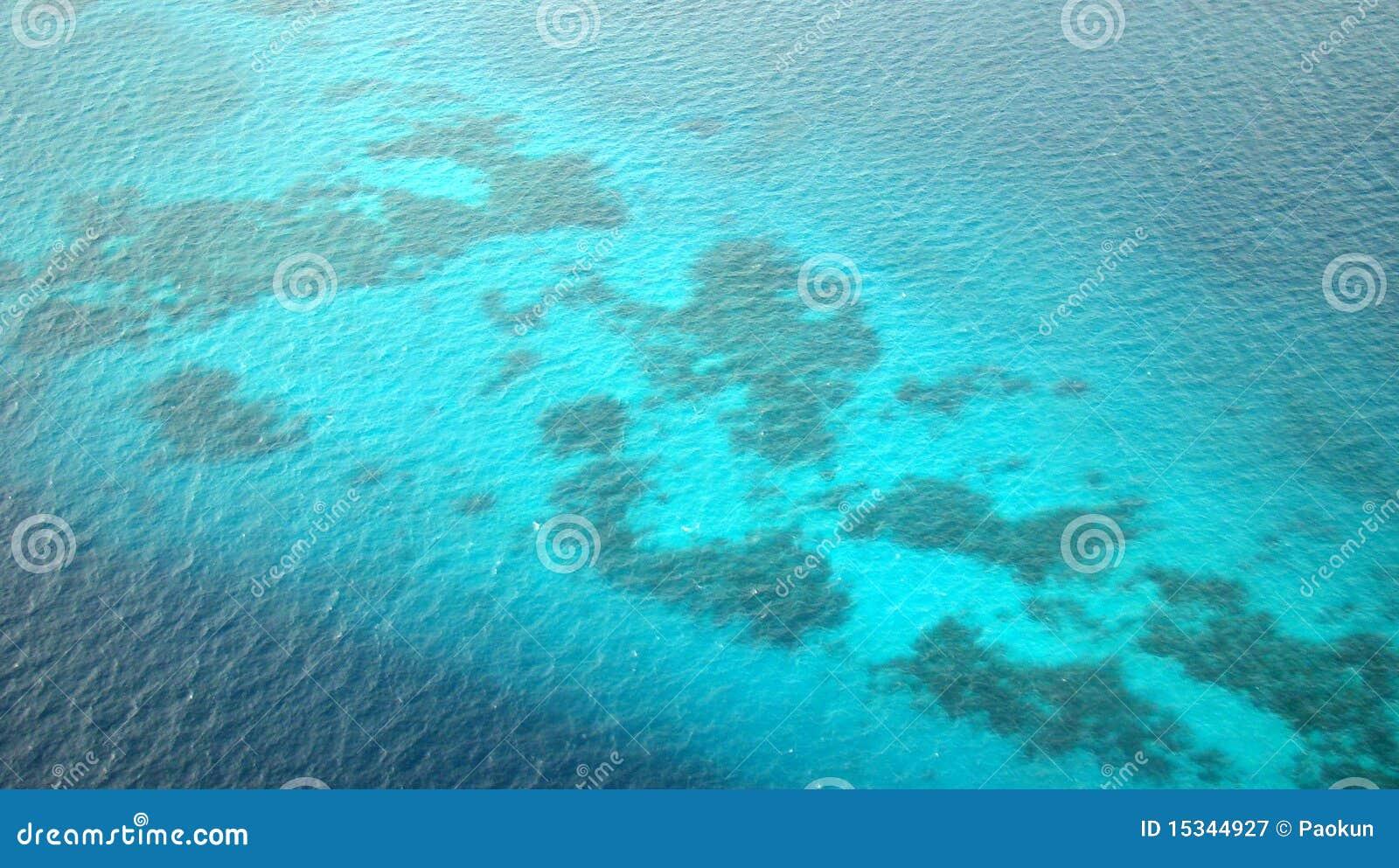 Flyg- sikt för korallmaldives rev