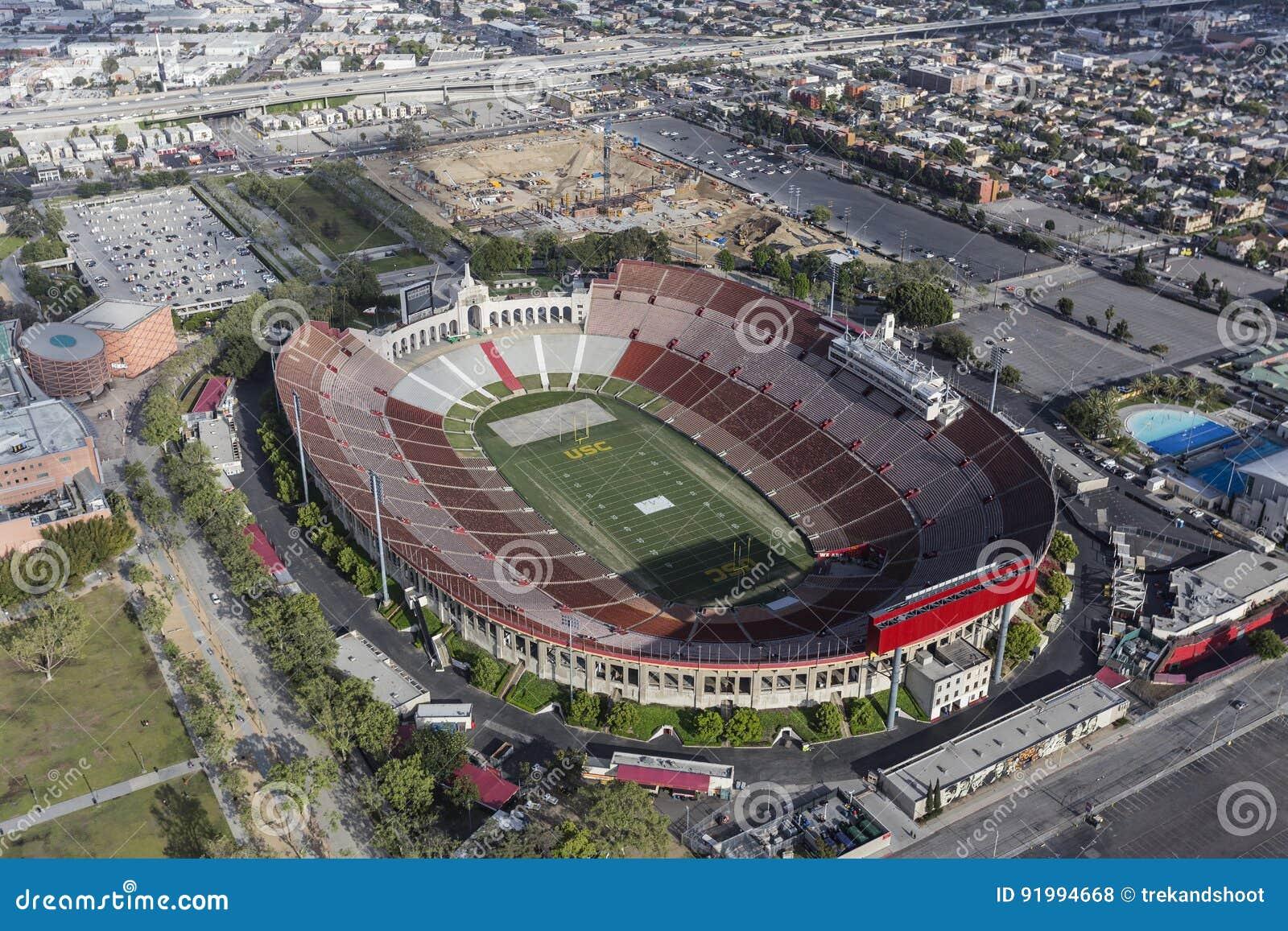 Flyg- sikt för Los Angeles Coliseum