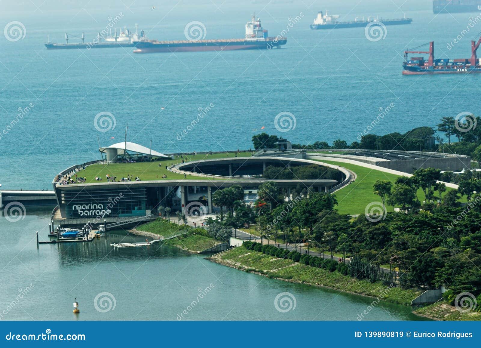 Flyg- sikt Marina Barrage