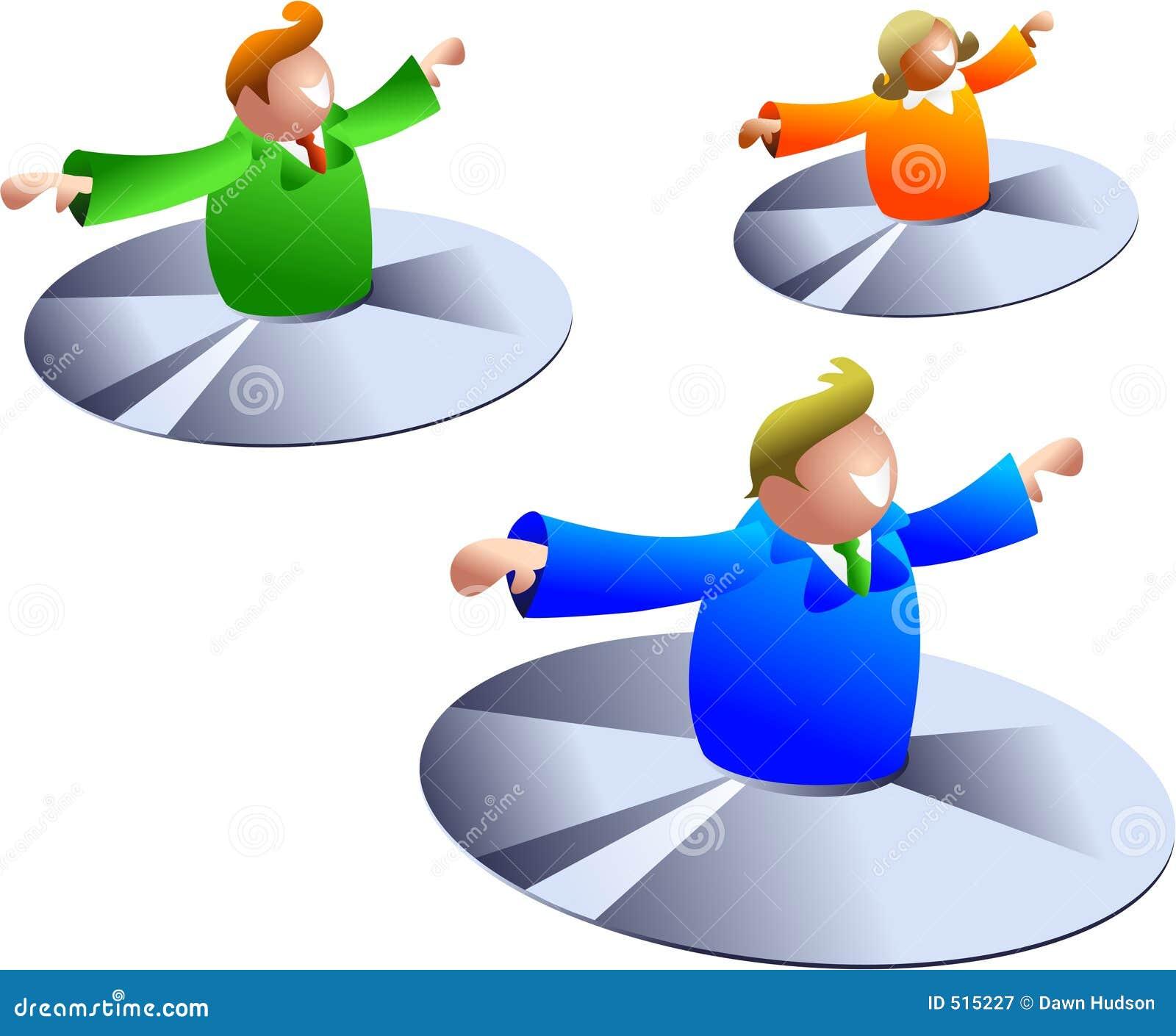 Flyga för disks