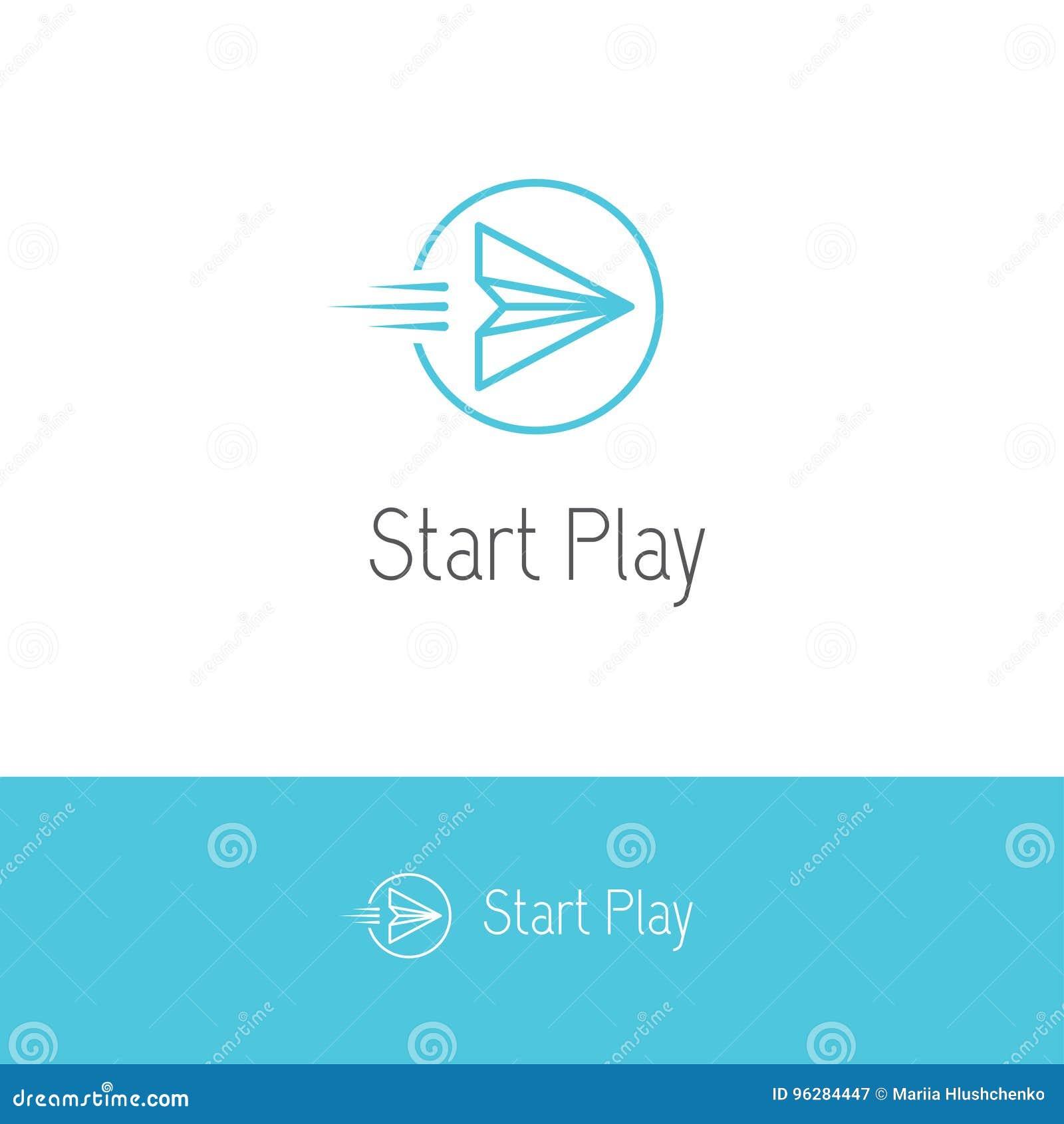 Flyga pappersnivån som ser som en lek eller en startknapp