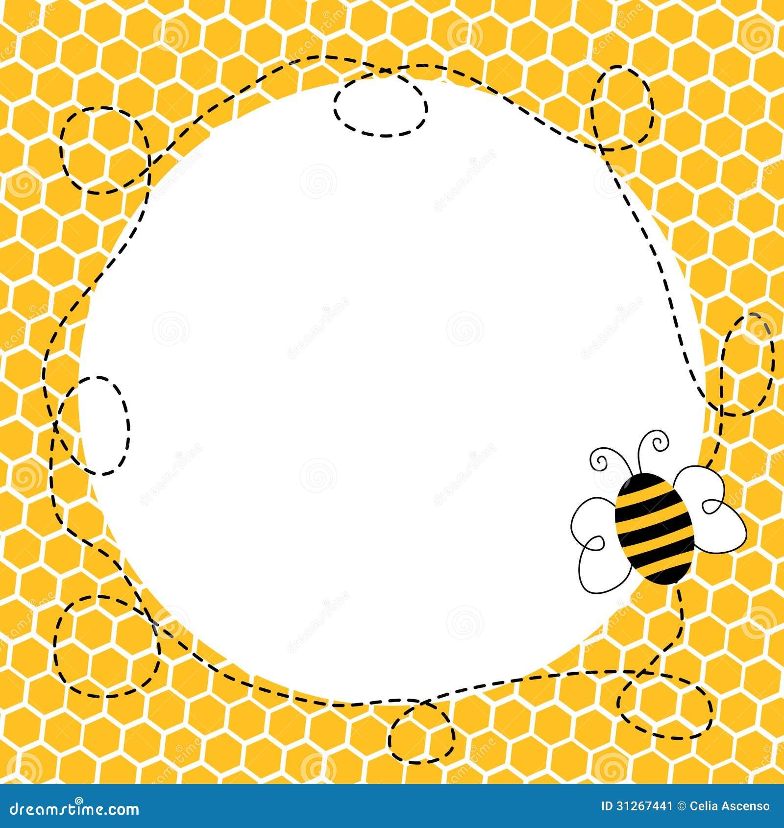 Flygbi i en honungskakaram