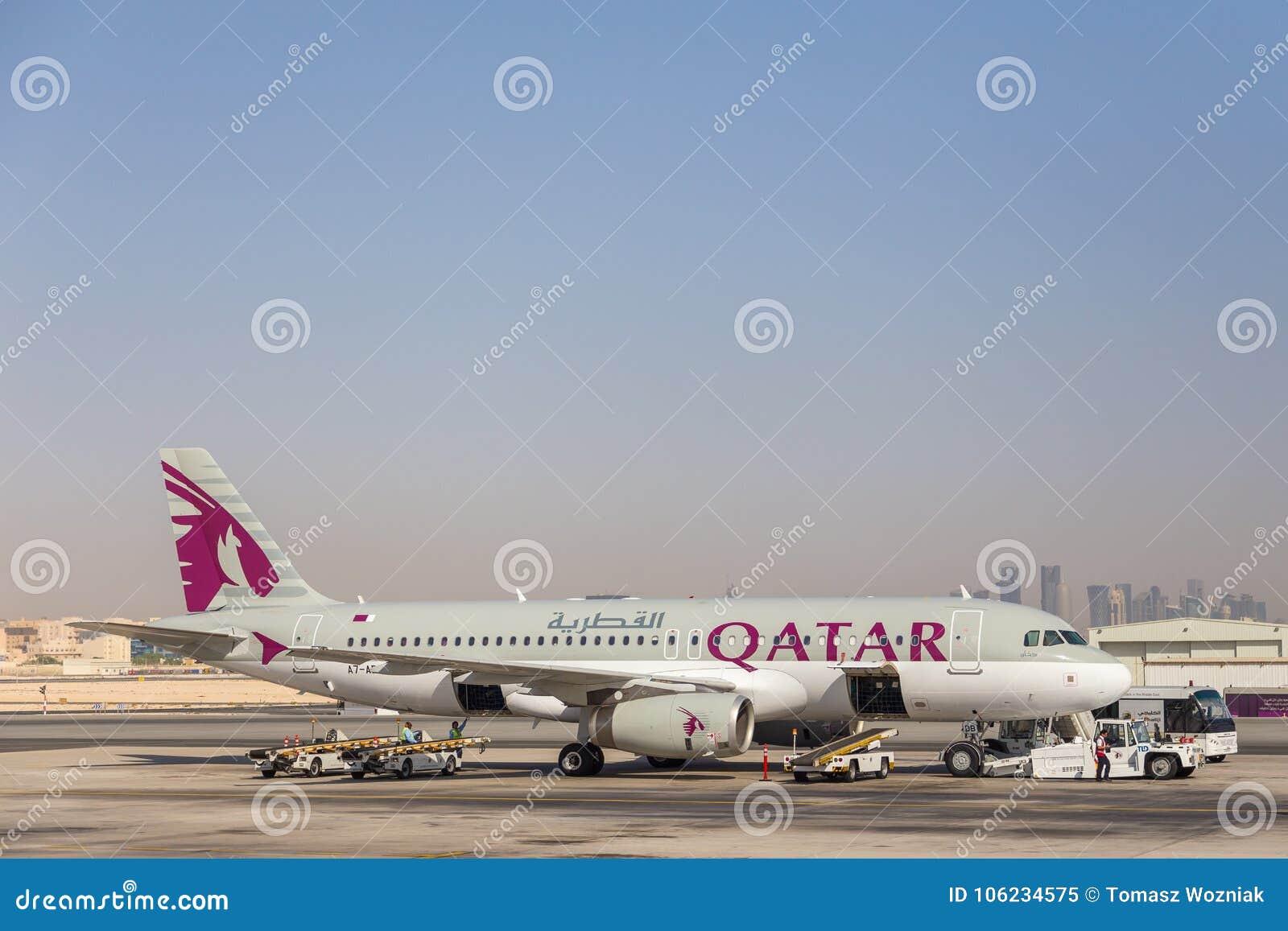Flygbuss A320 av Qatar Airways