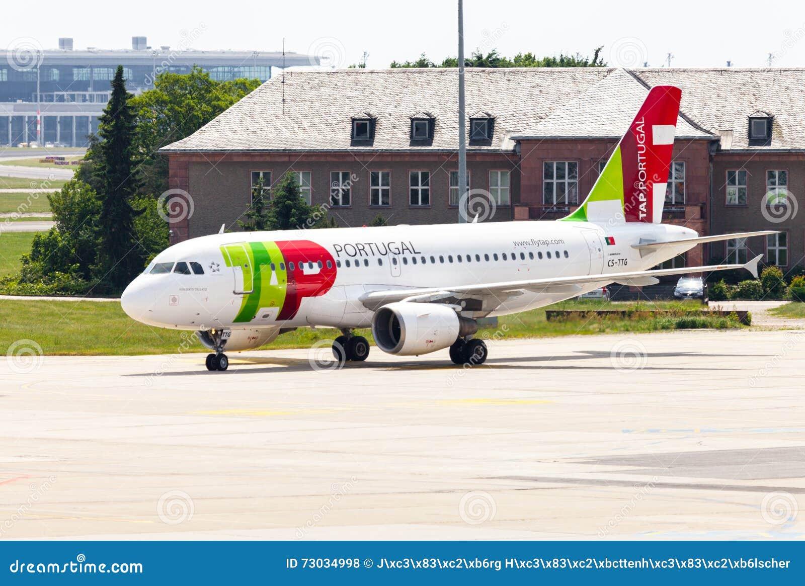 Flygbuss A 319 - 111 från TAP Portugal på flygplats